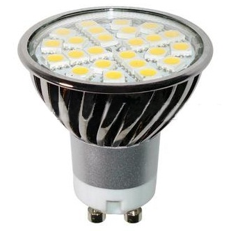 GU10 AC85-265V 24 x Tri-Chip 5050 SMD LED Bulb 120 Degree - 50W Equal